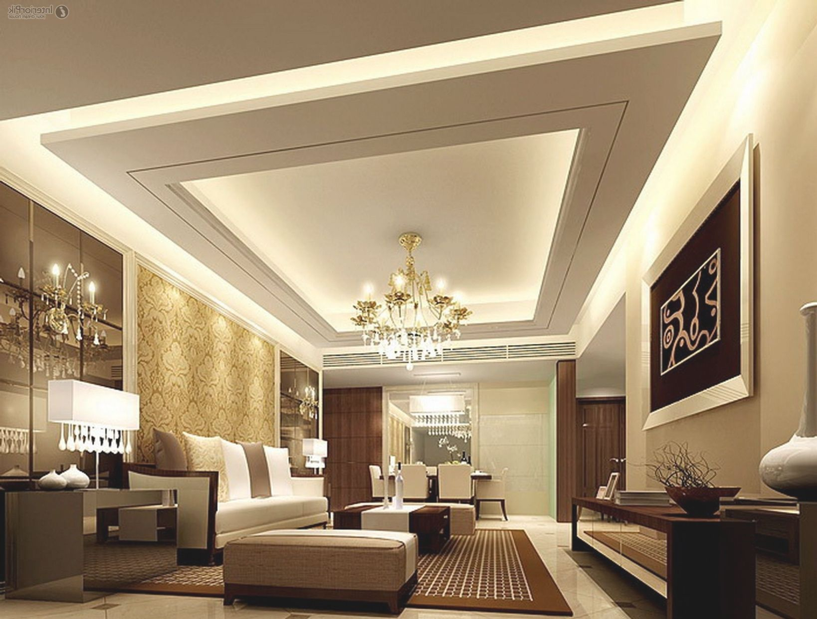 Gypsum Ceiling Design Living Room Lighting Home Decorate regarding 15 Gallery Inspiration For Living Room Decorating Ideas 2014