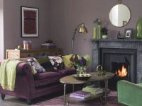"Ideal Home On Instagram: ""Purple And Green Makes A Stunning inside Purple And Green Living Room Decor"