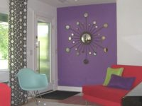 Interesting Decorating With Lavender Color Walls With Red with regard to Purple And Green Living Room Decor