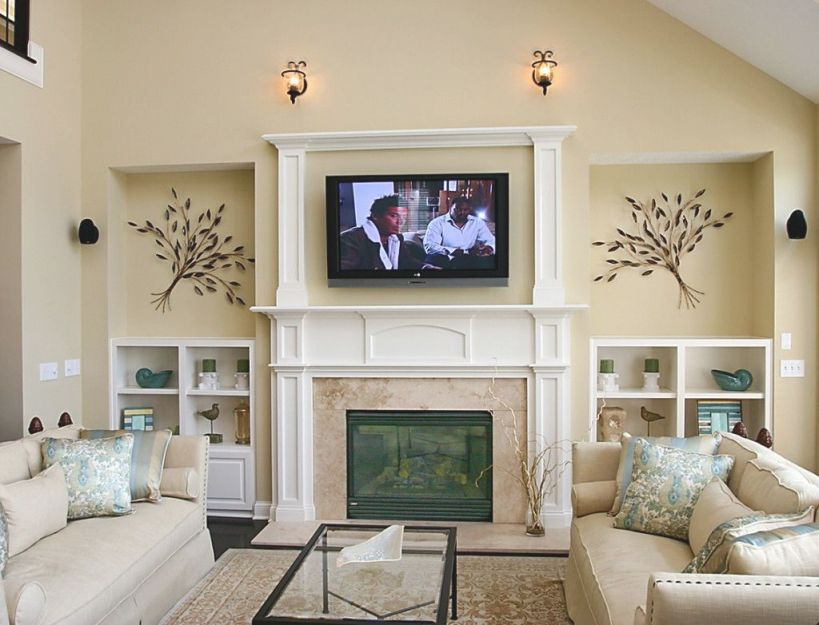 Livingroom Large Wall Decor White Sofa Small Living Room throughout Decorating Ideas For Large Walls In Living Room