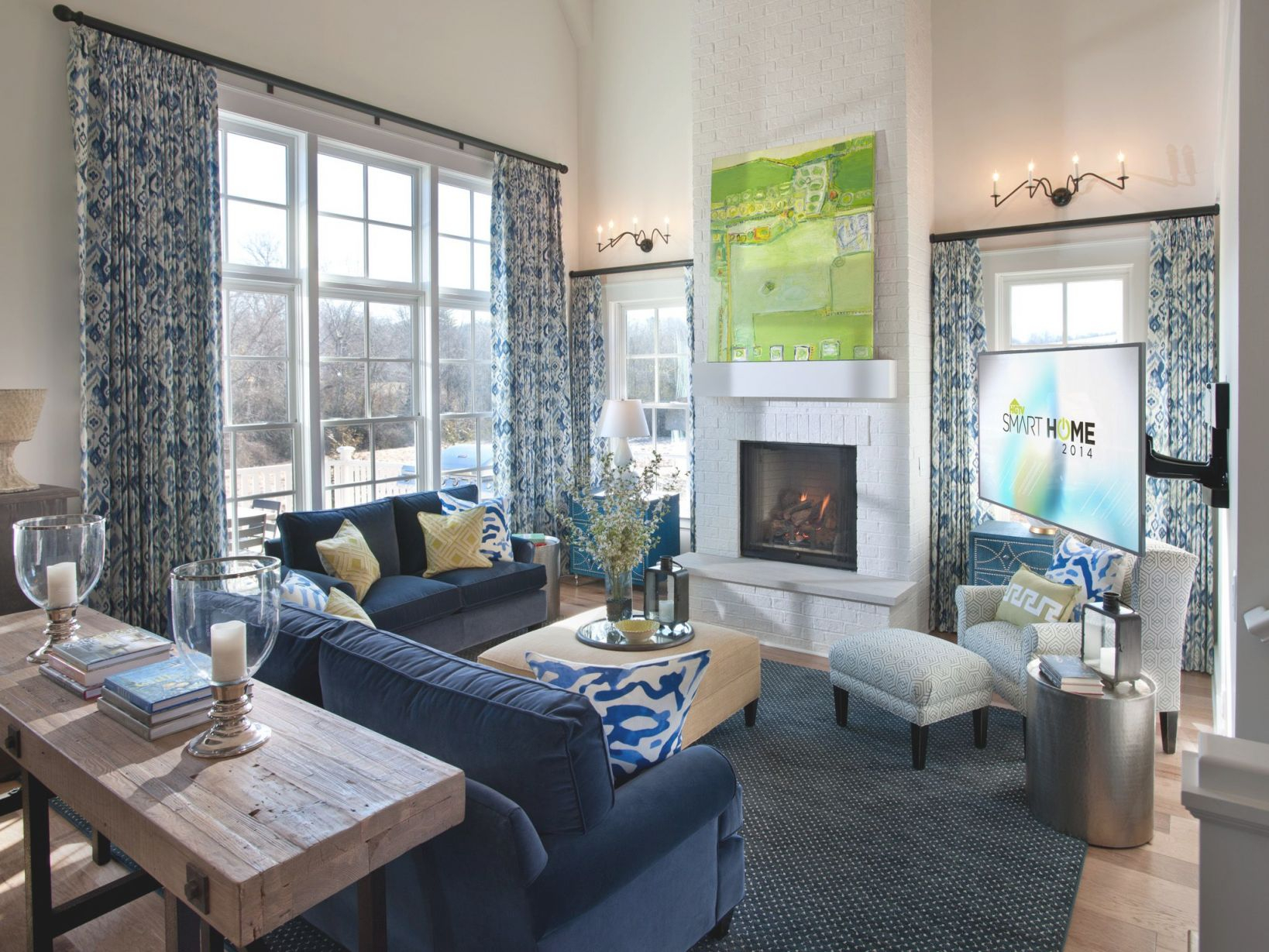 Luxury Living Room Home Decor Ideas Feature Navy Blue within Living Room Decorating Ideas 2014