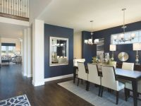 Meritage Homes Model Home Lantana – Beautiful Navy Walls with regard to Lovely Living Room And Dining Room Combo Decorating Ideas