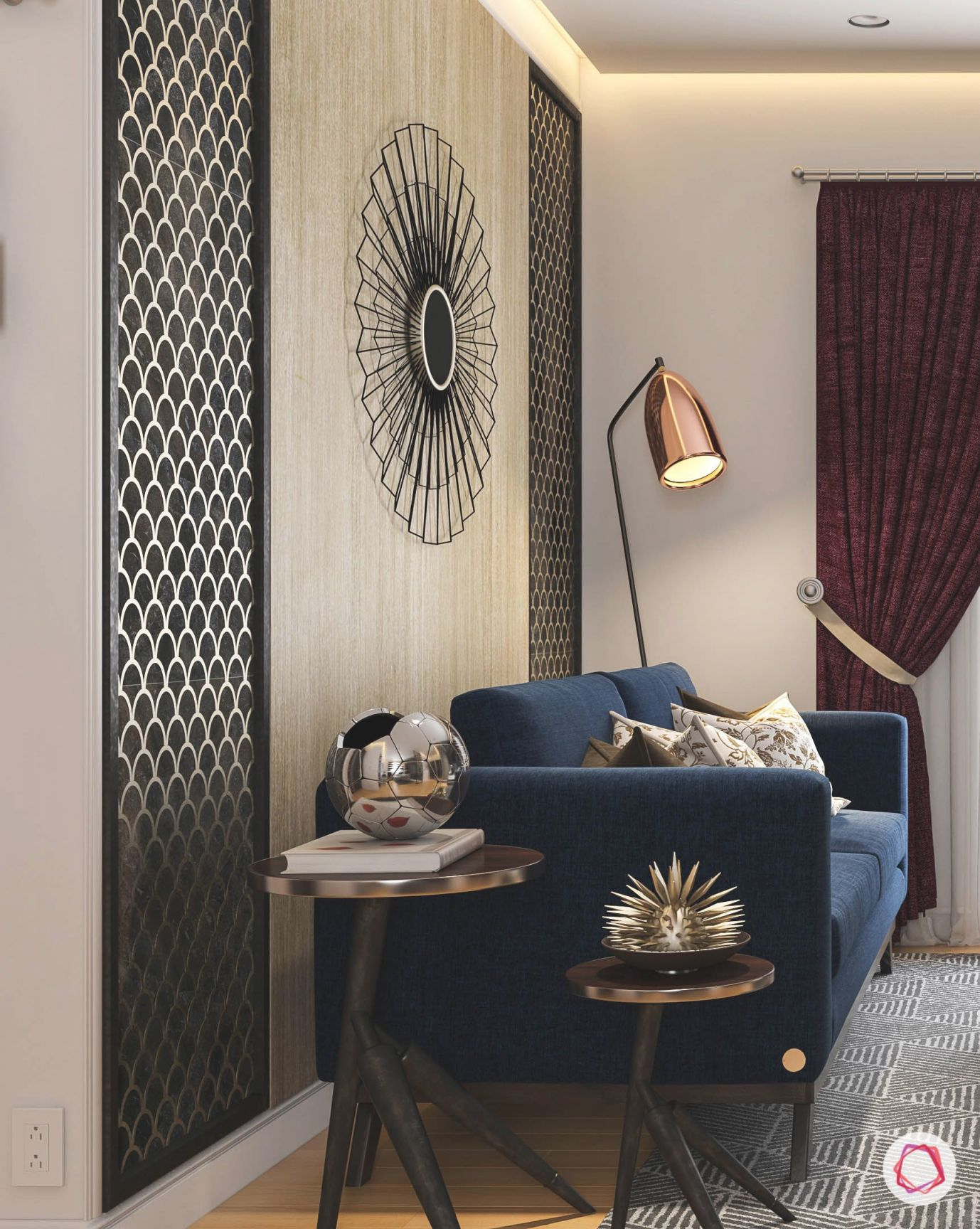 Metallic Accents Always Act As Wonderful Decor Items At Home intended for Decorative Items For Living Room