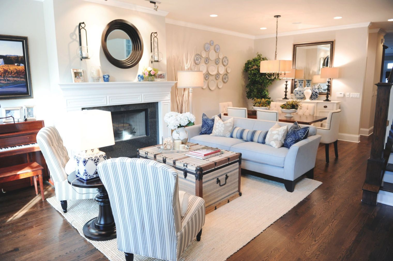 Nautical Living Room, Dining Room Combo | Living Room Dining throughout Living Room And Dining Room Combo Decorating Ideas