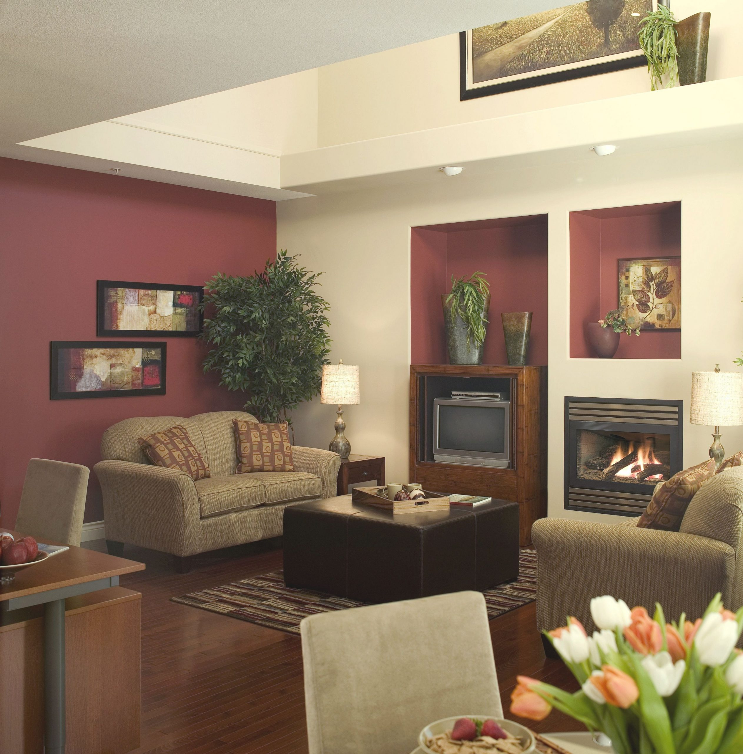 Popular House Paint Colors For 2014 | Burgundy Living Room with Living Room Decorating Ideas 2014