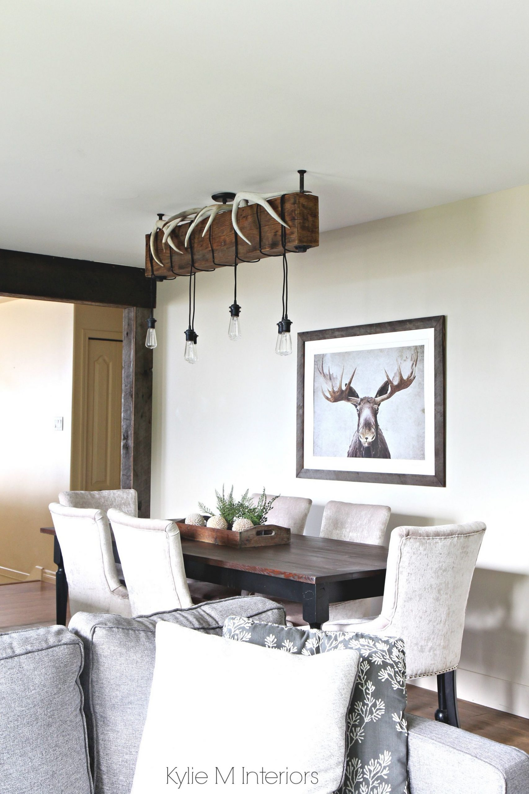 Rustic Country Or Hunting Decor In A Dining Room. Benjamin pertaining to 10+ Unique Gallery Hunting Decor For Living Room