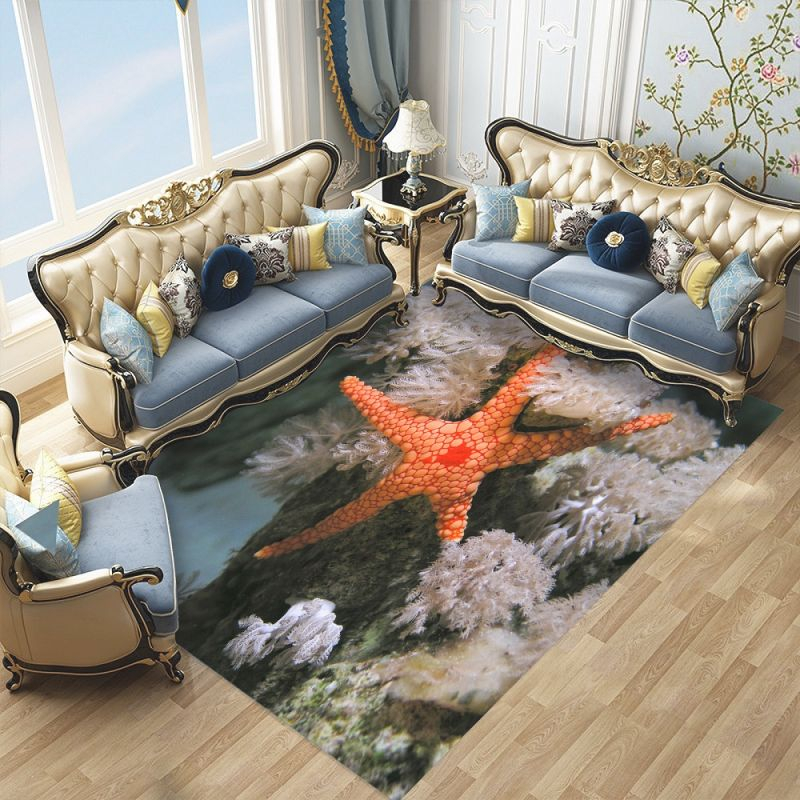 Us $8.15 49% Off|Custom Summer Ocean Starfish Area Rug Animals Non Slip Doormat Modern Decor Carpet For Bedroom Living Room Home Decor Pad|Carpet| – inside 12+ Awesome Gallery For Decor Pad Living Room