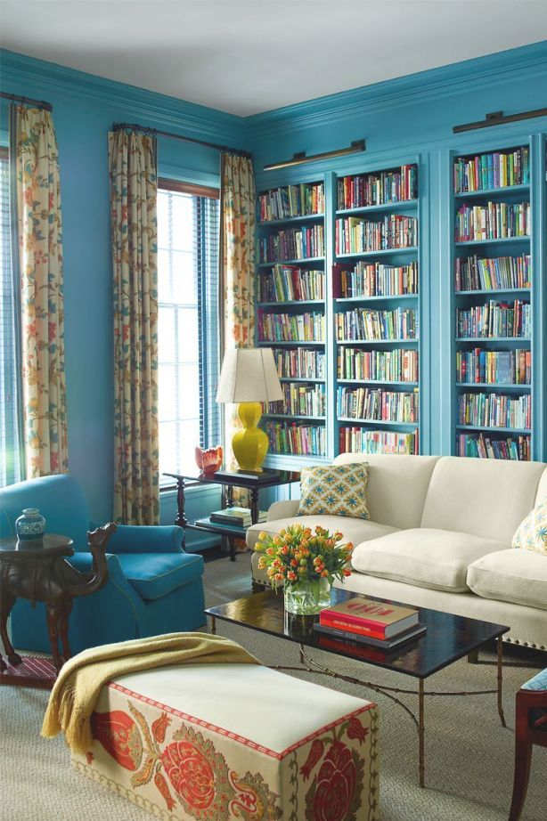 20 Living Room Color Ideas - Best Paint & Decor Colors For in Blue And Yellow Living Room