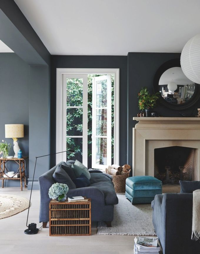 20+ Living Room With Fireplace That Will Warm You All Winter regarding 12+ Awesome Gallery For Blue And Grey Living Room