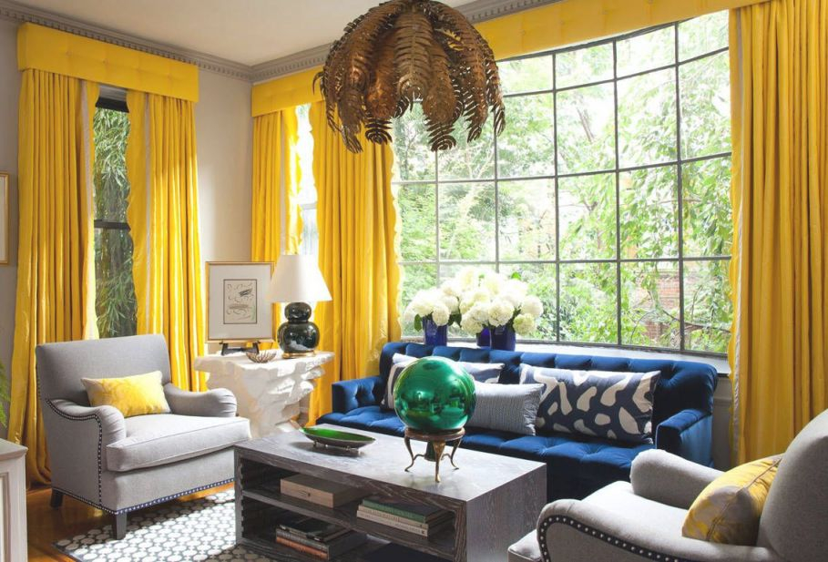 4 Tips For Furnishing Your First Home | Yellow Living Room inside Blue And Yellow Living Room