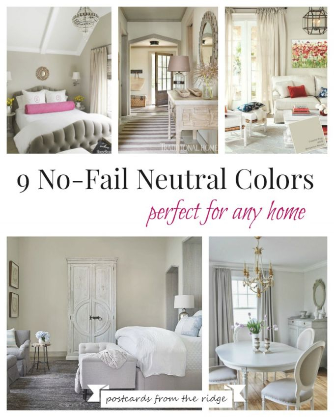 9 No-Fail Neutral Paint Colors | Postcards From The Ridge pertaining to Best Neutral Paint Colors For Living Room