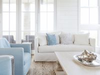 A Tan And Blue Color Palette For Coastal Living Rooms with Blue And Tan Living Room