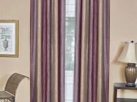 Achim Semi-Opaque Ombre 50 In. W X 63 In. L Curtain Panel In Aubergine regarding Burgundy Curtains For Living Room