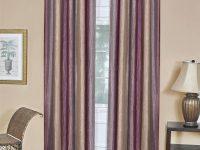 Achim Semi-Opaque Ombre 50 In. W X 63 In. L Curtain Panel In Aubergine regarding Burgundy Curtains For Living Room