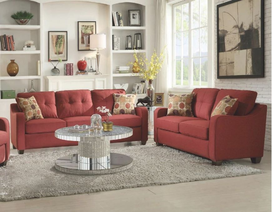 Acme Furniture 535604Set within 8+ Amazing Inspiration Ideas For Brown And Red Living Room