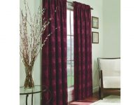 "Allen + Roth 63""L Burgundy Roselle Curtain Panel At Lowes with Burgundy Curtains For Living Room"