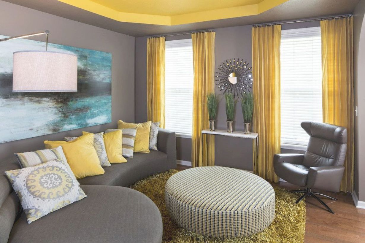 Amazing Interiors Schemes In Blue And Yellow Decorations throughout Blue And Yellow Living Room