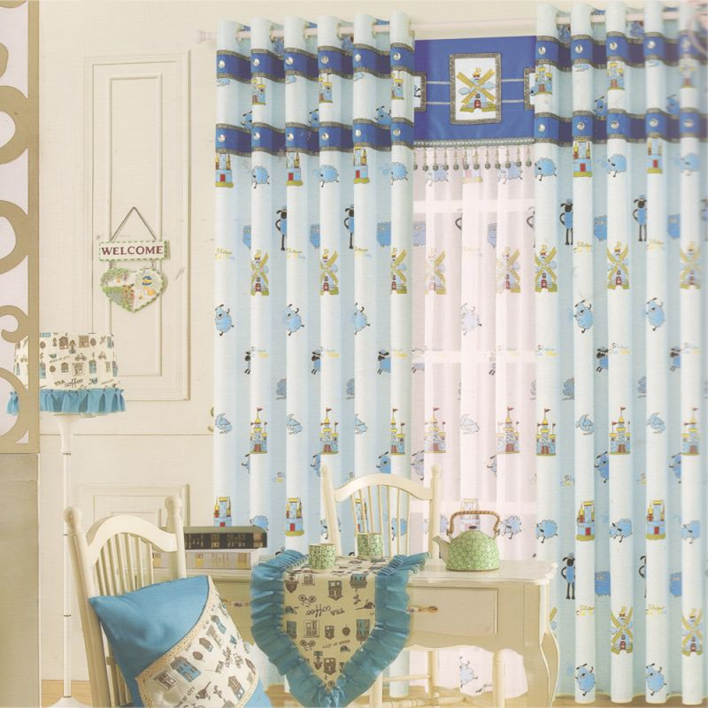 Baby Blue Beautiful Living Room Curtains For Kids inside Beautiful Curtains For Living Room