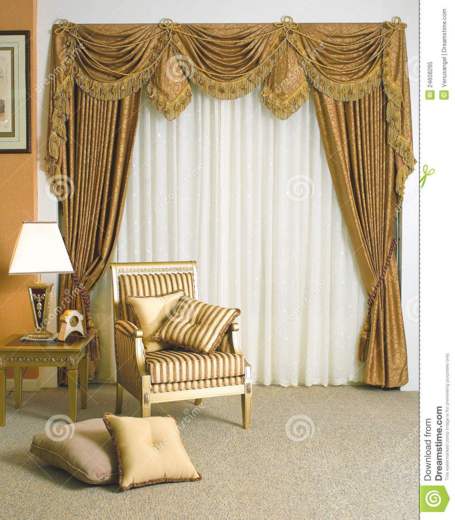 Beautiful Curtain In Living Room Stock Image – Image Of throughout Beautiful Curtains For Living Room