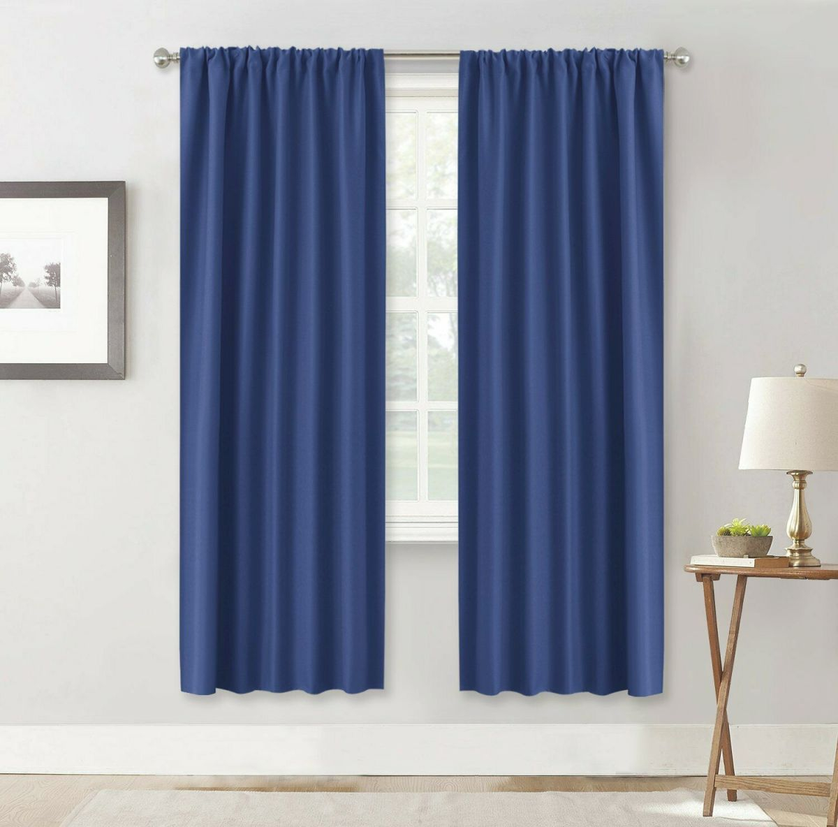 Blackout Curtain Rod Pocket Light Blocking Drape For Bedroom/Living Room,2 Panel for 10+ Unique Gallery Burgundy Curtains For Living Room