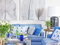 Blue And White Rooms – Decorating With Blue And White inside Blue And White Living Room