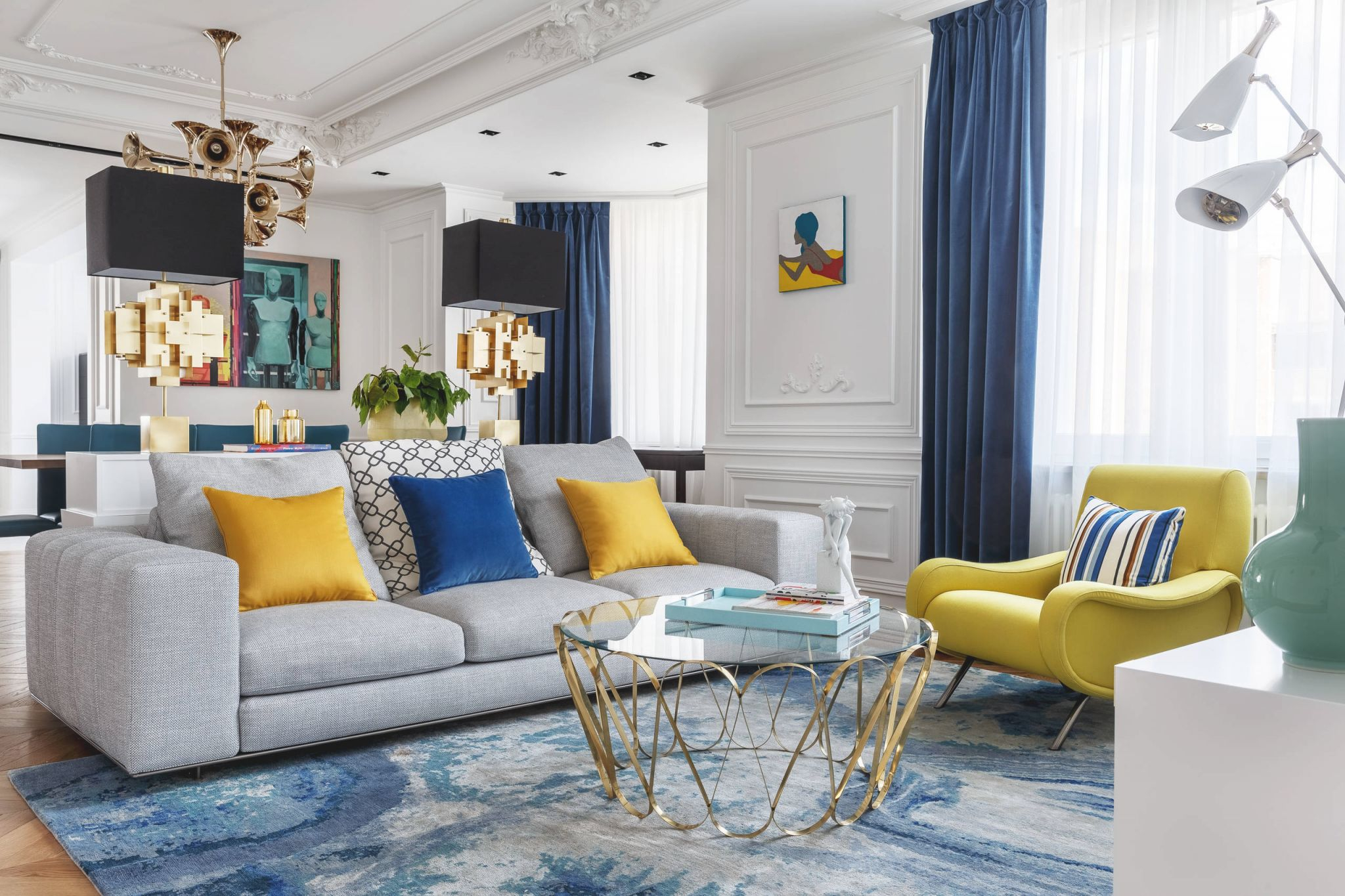 Blue And Yellow Living Room Ideas Photos Houzz Pertaining To 15 Beautiful Ideas Blue And Yellow Living Room Awesome Decors