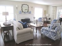 Blue, White And Silver: Timeless Design | Blue And White in Blue And White Living Room