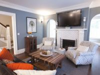 Blue & White Transitional Living Room | Hgtv within 10+ Inspiration For Blue And White Living Room
