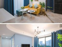 Blue-White-Yellow-Living-Room-020518-1253-05 | Contemporist inside Blue And Yellow Living Room
