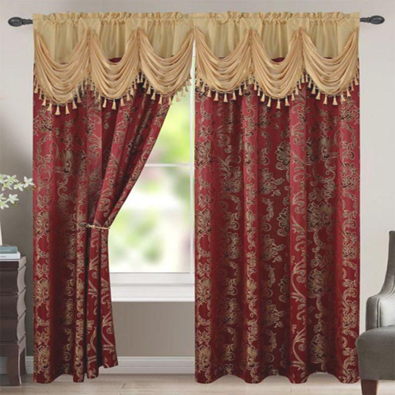 Bridget 2Pc Panel Curtains with regard to Burgundy Curtains For Living Room
