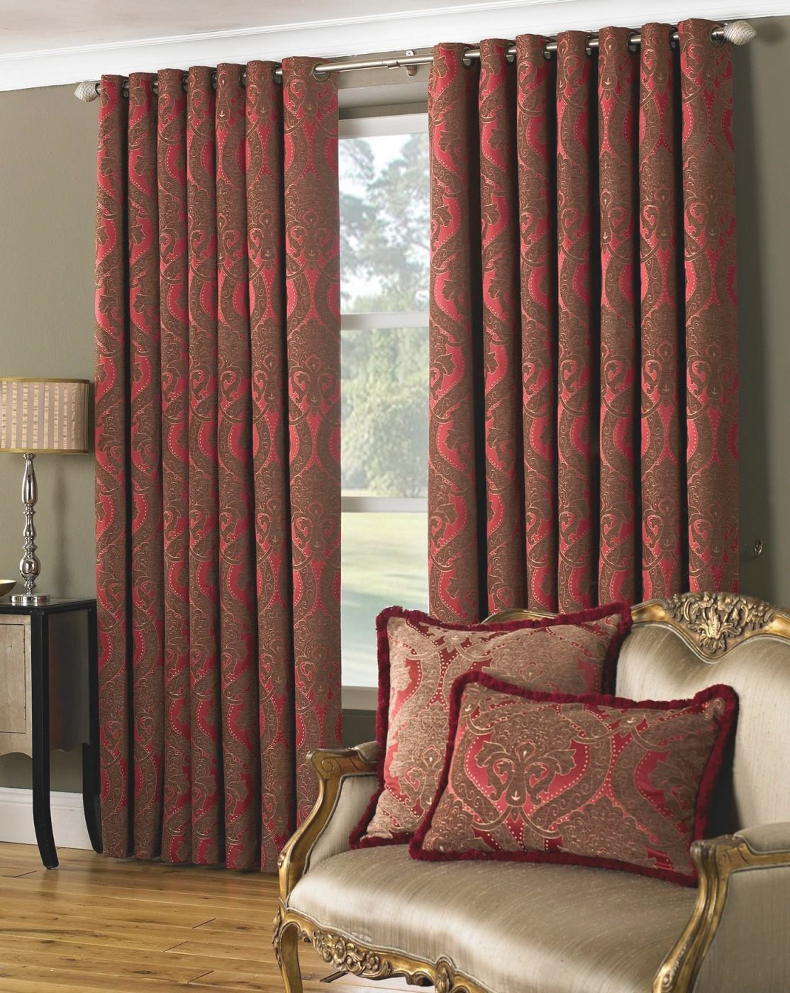 Burgundy Curtains Living Room Roy Home Design - Decoratorist for Burgundy Curtains For Living Room