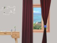Burgundy Sheer Voile Window Curtain 29X96 Inch 1 Panel with regard to 10+ Unique Gallery Burgundy Curtains For Living Room