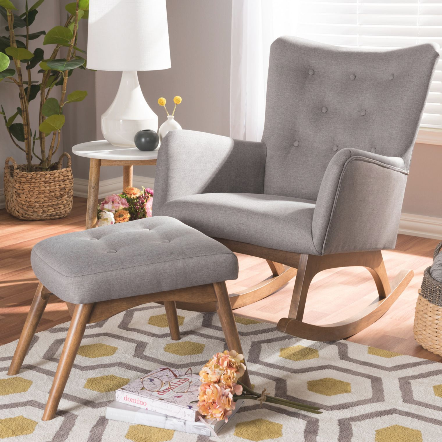 Centreville Rocking Chair With Ottoman with regard to Chairs For Living Room Cheap