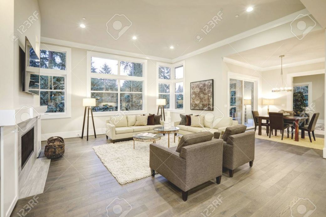Chic Light Living Room Design With Dark Floors. Furnished With.. intended for 10+ Unique Gallery Accent Tables For Living Room