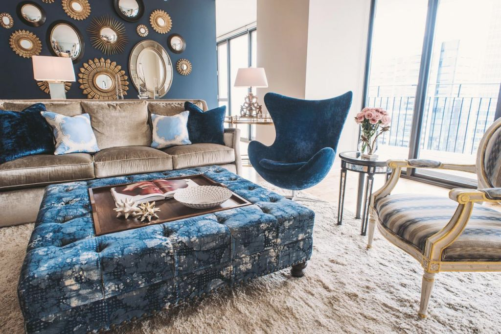 Cool Down Your Design With Blue Velvet Furniture | Hgtv'S within Blue And Tan Living Room