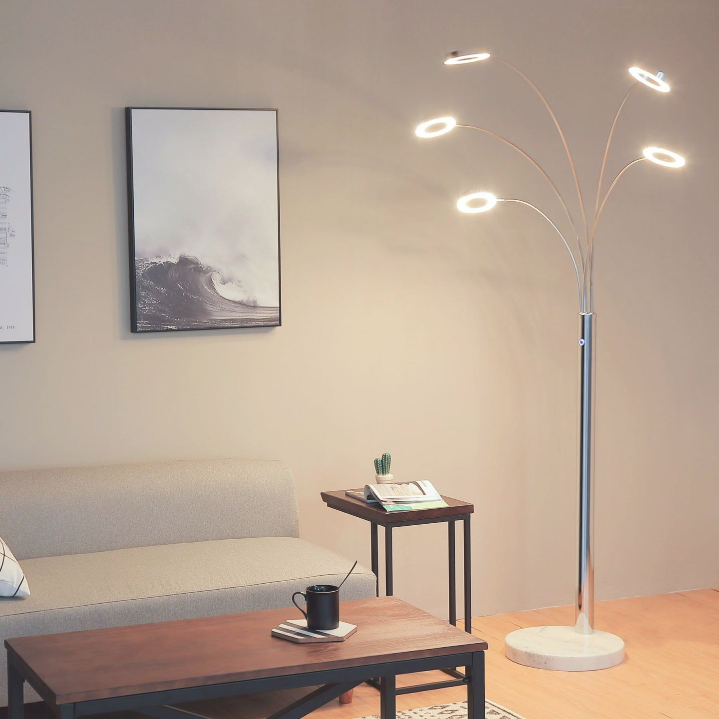 Coz Bright Led Floor Lamp With 5 Dimmable Lights Modern in 10+ Unique Gallery Bright Floor Lamp For Living Room