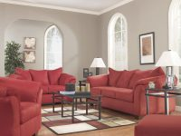 Darcy Salsa Living Room Set with Brown And Red Living Room