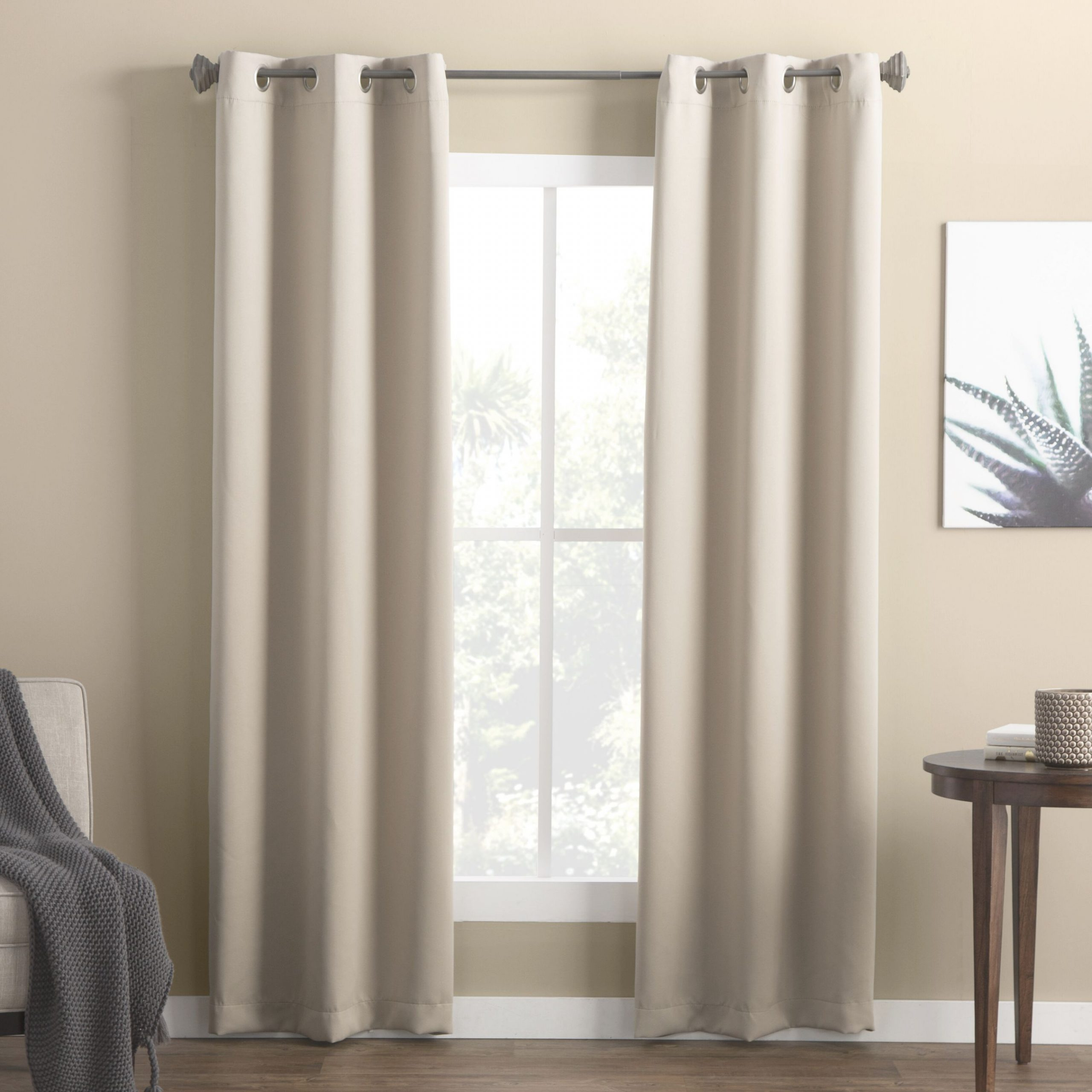 Denton Solid Room Darkening Grommet Curtain Panels (Set Of 2) with regard to Beautiful Curtains For Living Room