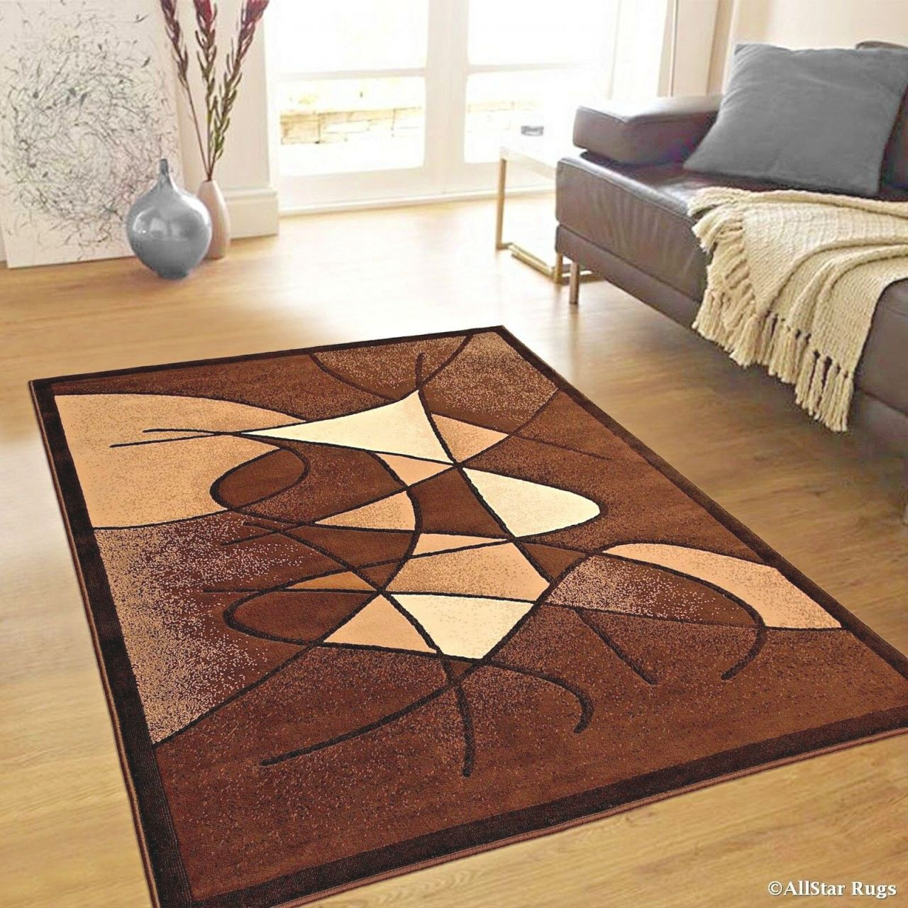 Details About Rugs Area Rugs Carpets 8X10 Rug Modern Large Floor Room 5X7 Cool Brown Cute Rugs with Big Area Rugs For Living Room