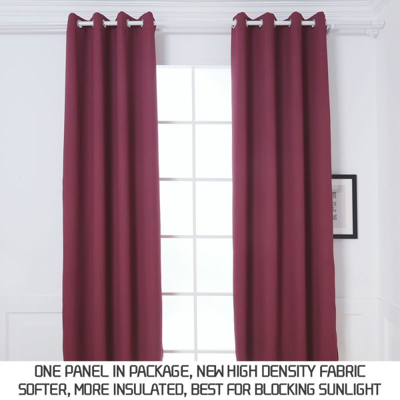 "Dream Art Indoor/Outdoor Curtains, Thermal Insulated Blackout Grommet Curtains For Living Room And Patio, Burgundy, W52""Xl63"" 1 Panel regarding Burgundy Curtains For Living Room"