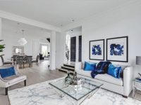 Elegant Blue And White Living Room Decor With White Sofa regarding Blue And White Living Room