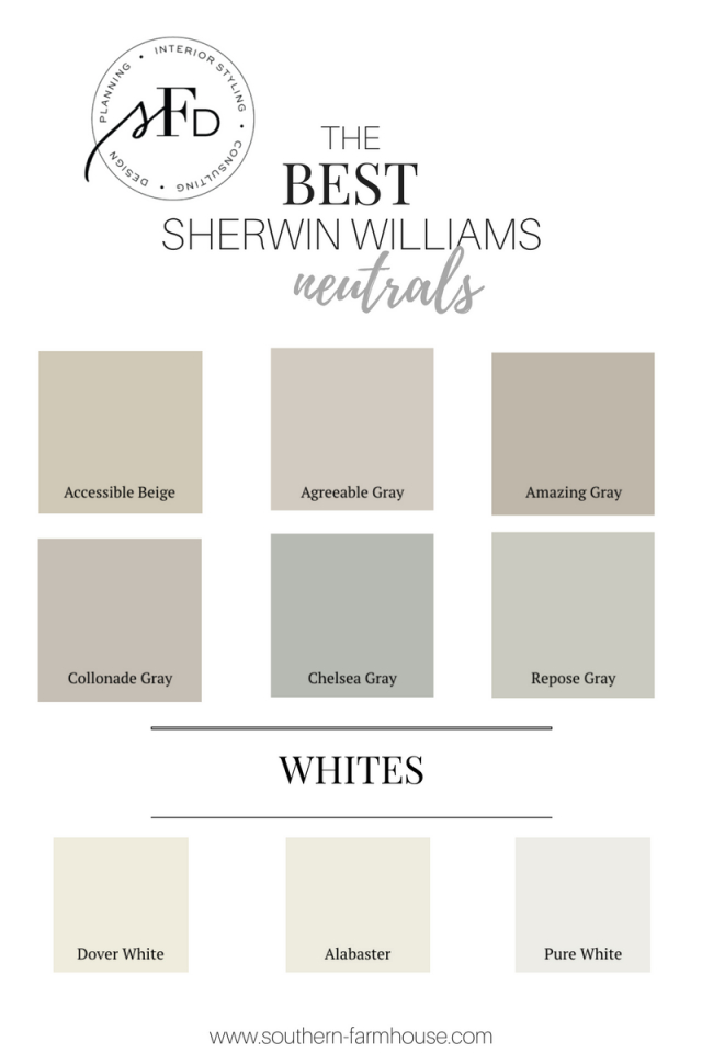 Favorite Neutral Paint Colors From Southern Farmhouse intended for Best Neutral Paint Colors For Living Room