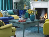 Green Living Room Ideas For Soothing, Sophisticated Spaces throughout Blue And Yellow Living Room