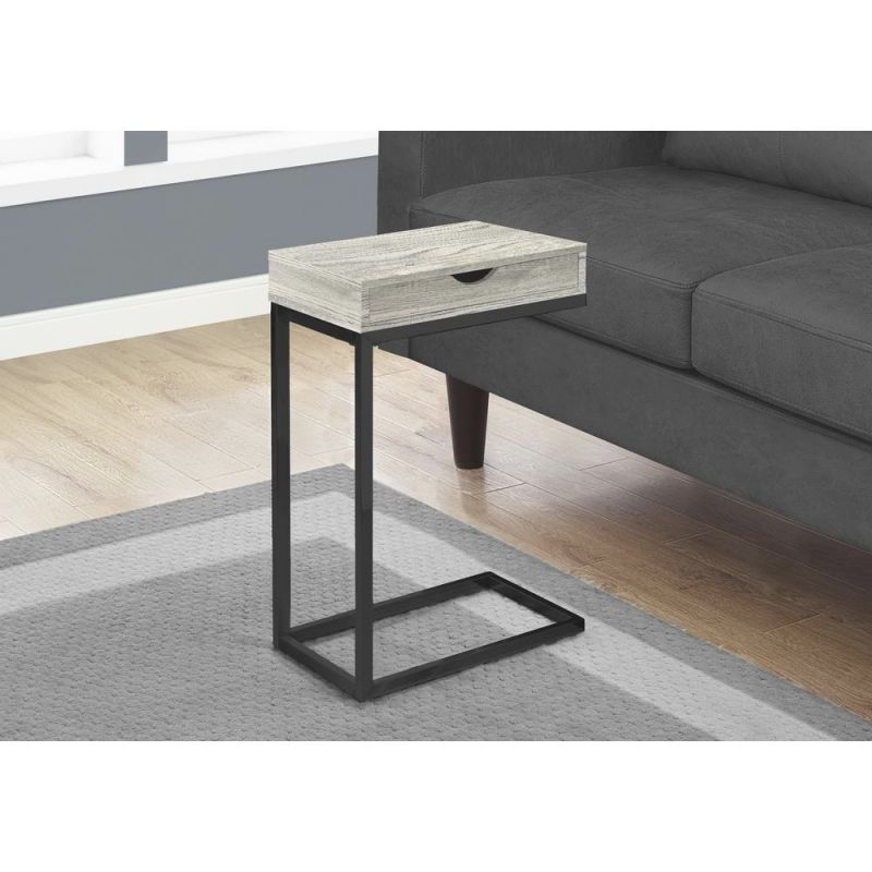 Grey Accent Table With Black Metal intended for 10+ Unique Gallery Accent Tables For Living Room