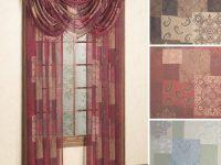 Jasmine Sheer Window Treatment inside Burgundy Curtains For Living Room