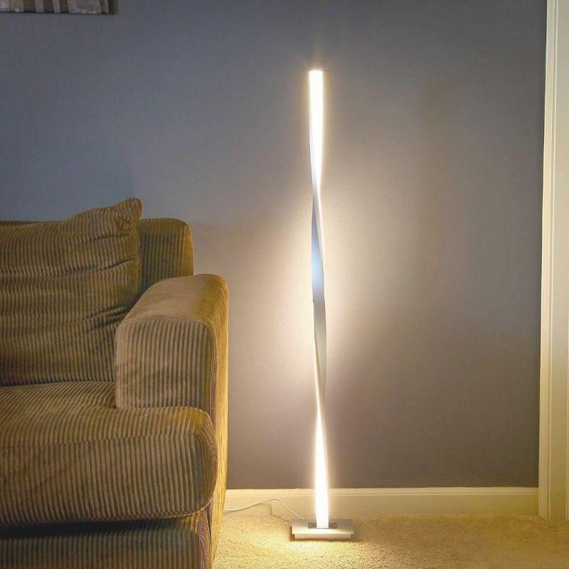 Kofi – Led Twist Standing Lamp | Led Floor Lamp, Floor Lamp inside Bright Floor Lamp For Living Room