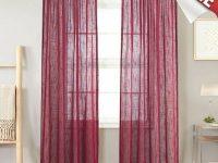 Linen Look Burgundy Sheer Curtains For Living Room Rod Pocket Curtain Panels For inside 10+ Unique Gallery Burgundy Curtains For Living Room