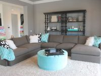 Love The Pops Of Colour With Grey. When You Are Sick Of The for Blue And Grey Living Room