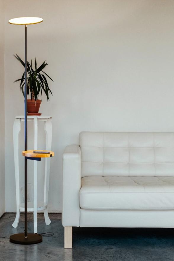 Mid Century Modern Lamp – Bedroom Decor – Sky Ultra – Led in Bright Floor Lamp For Living Room