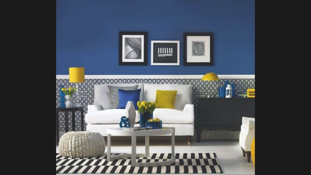 Modern Blue And Yellow Living Room - Youtube in Blue And Yellow Living Room